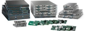 Images of server stacks and microchips