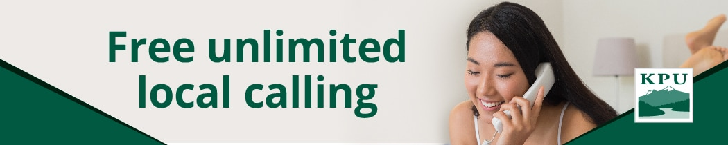 Banner ad: Free unlimited local calling
